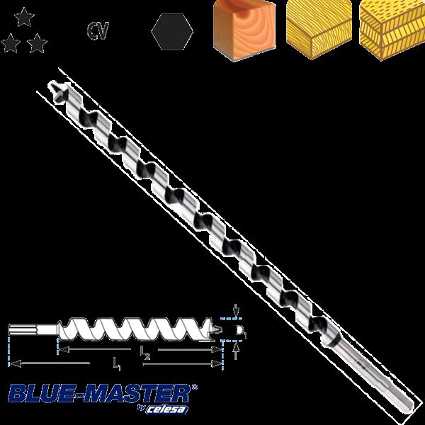"Broca para Madera Blue-Master CV Tipo ""S"" Serie Extra Larga"
