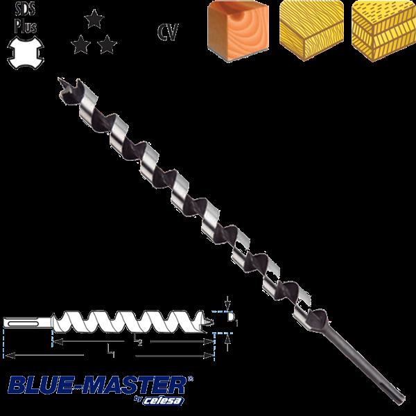 "Broca para Madera Blue-Master CV Tipo ""S"" SDS Plus Serie Larga"