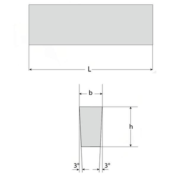 Cuchilla Trapezoidal