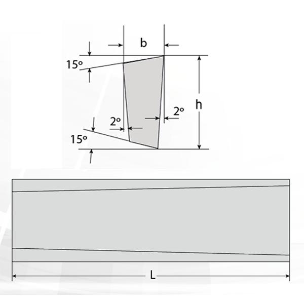 Cuchilla Trapezoidal L-2