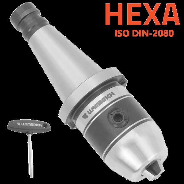 Portabrocas Llambrich ISO DIN-2080 cono integrado Llambrich y llave hexagonal HEXA-SYSTEM