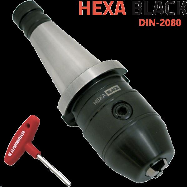 Portabrocas Llambrich ISO DIN-2080 cono integrado Llambrich y llave hexagonal HEXA BLACK