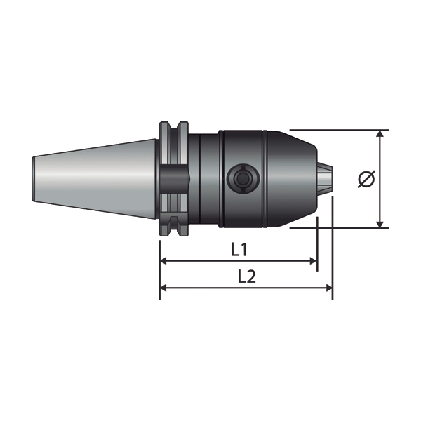Portabrocas Llambrich HEXA-BLACK SK de autoapriete de presición con cono integrado
