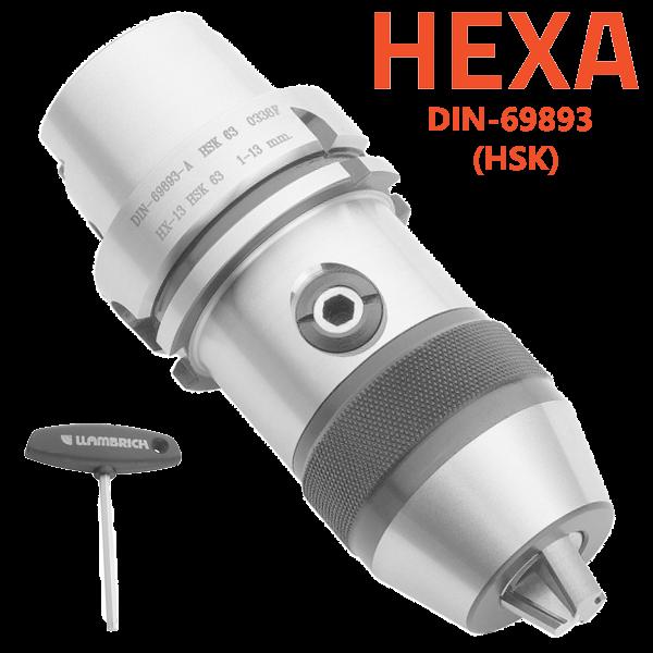 Portabrocas HSK-HEXA-SYSTEM- con cono integrado para máquinas CNC y fresadoras Llambrich
