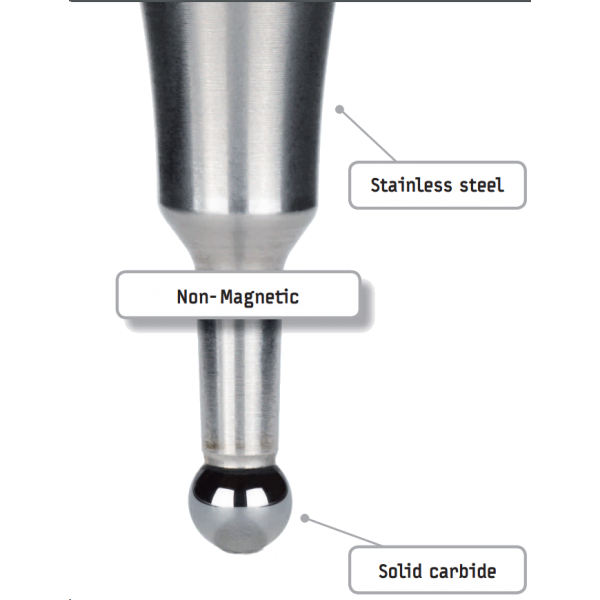 Short Linear Probe 4mm for Haimer 3D Universal Taster