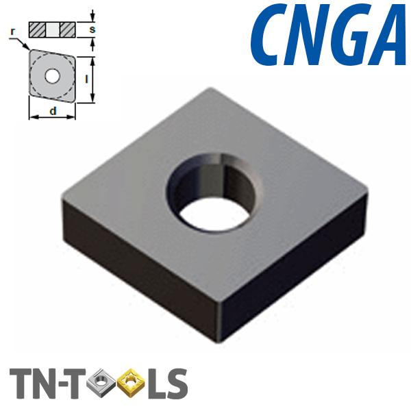 CNGA1204.. Placa de Torno Negativa Cerámica