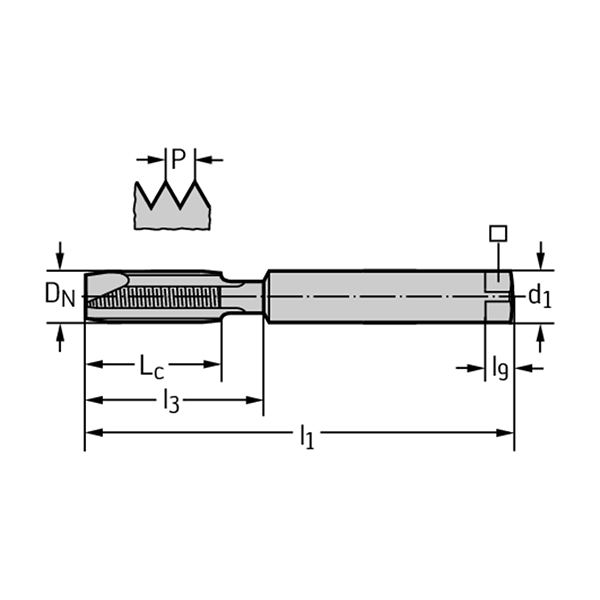Walter 202061-M3.5 Machos de roscar a máquina HSS-E-PM