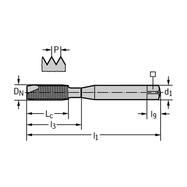 Walter 20211-M10 Machos de roscar a máquina HSS-E
