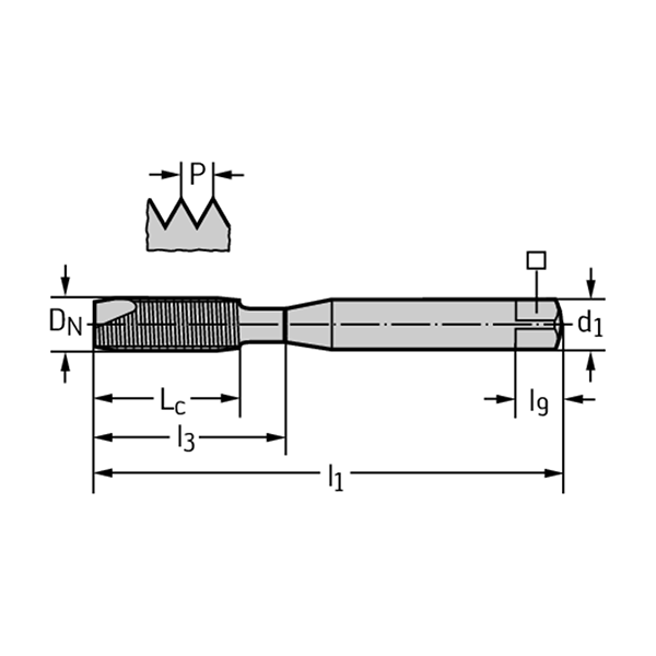 Walter 20211-M8 Machos de roscar a máquina HSS-E
