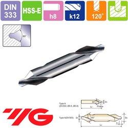 Broca de Centar 60º HSS, Tipo A