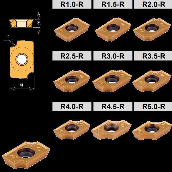 Milling insert ADMW-R 1503 Concave radius