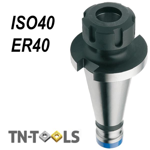 Cono Portapinza DIN2080 ISO40-ER40 para pinza de sujección