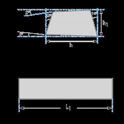 Cuchillas Trapeciales de Cobalto 10% Para Torno DIN4964 Forma Index 1