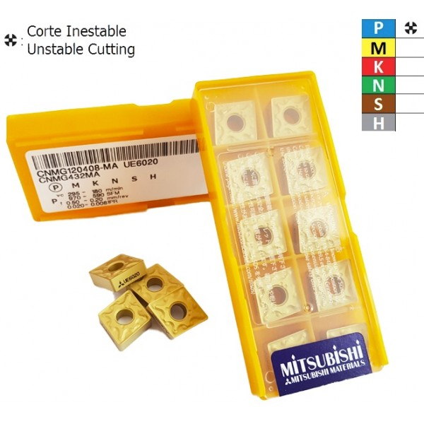 CNMG120408-MA UE6020 Placa de Torneado Negativa