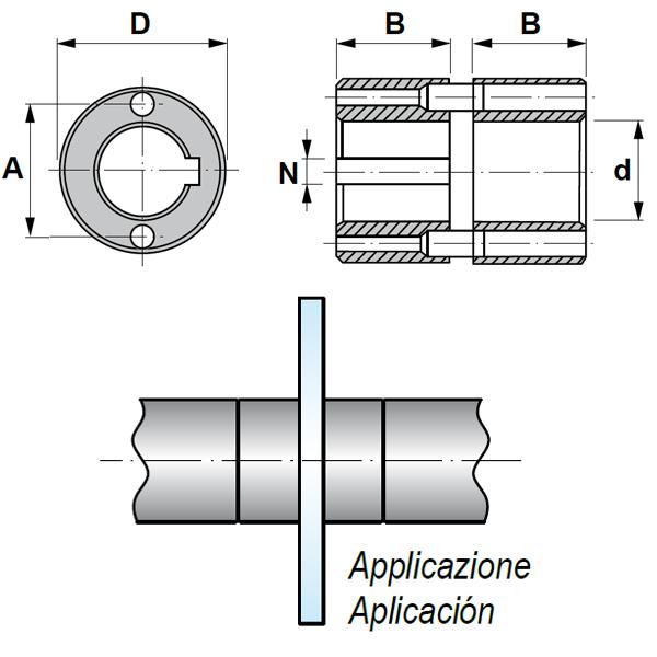Adaptador de anillos con Ranura Longitudinal para Fresa 2942.90.