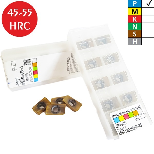 Hitachi APMT160408PDER-HS JP4020 Placa de Fresar