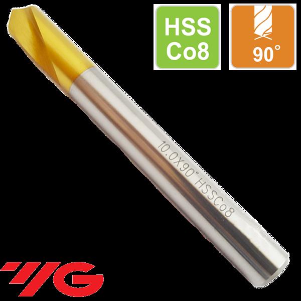 Broca Centrar CNC 90º Acero al Cobalto HSSCo8 Recubrimiento TIN