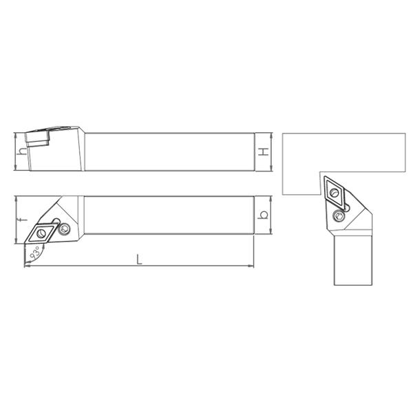 External Coolant Turning Holder PDJNR/L-PH (93°)