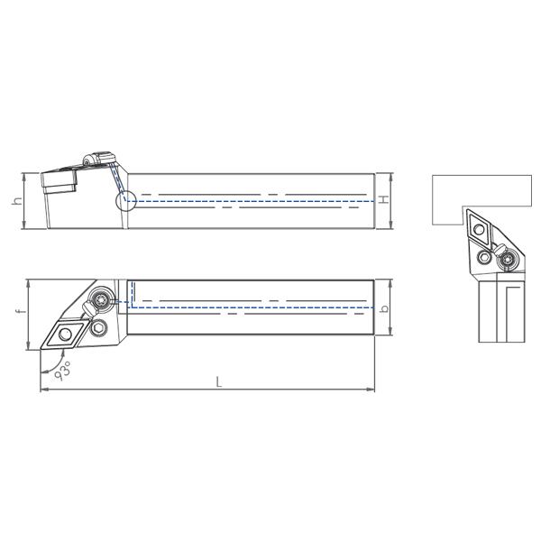 External Coolant Turning Holder PDNNN-PH (62.50°)