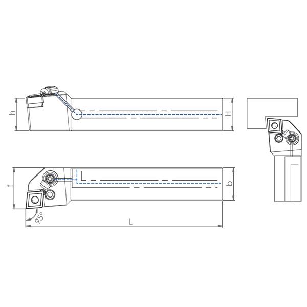 External Coolant Turning Holder PCLNR/L-PH (95°)