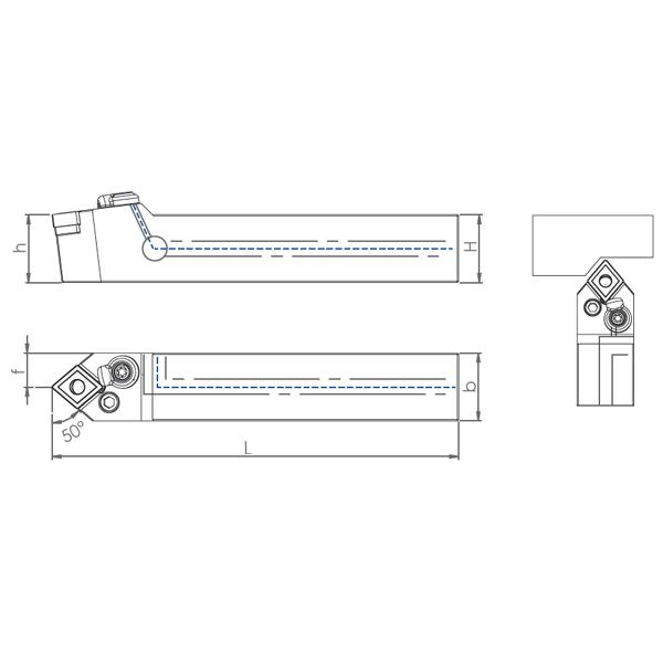 External Coolant Turning Holder PCMNN-PH (50°)