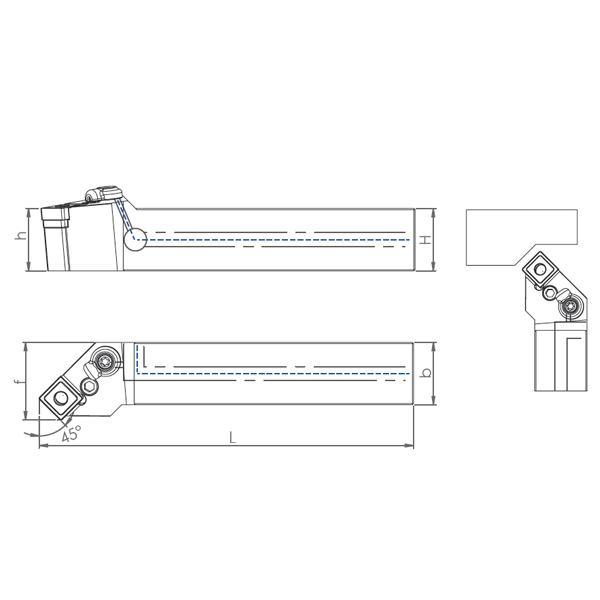 External Coolant Turning Holder PSSNR/L-PH (45°)