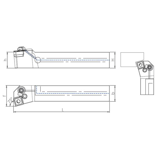 External Coolant Turning Holder PSKNR/L-PH(75°)