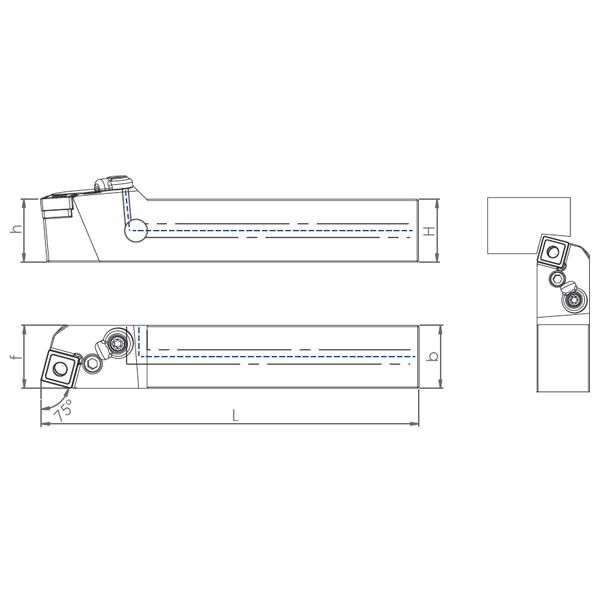 External Coolant Turning Holder PSBNR/L-PH(75°)