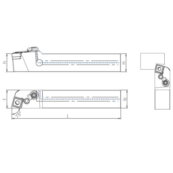 External Coolant Turning Holder PWLNR/L-PH(95°)