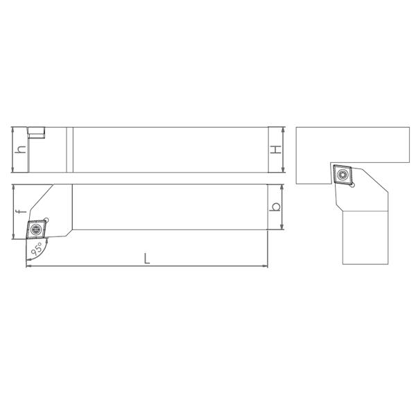 External Turning Holder SCLCR/L (93°)