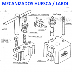 Spare parts for Turning Turrets Lardi-Mecanizados Huesca