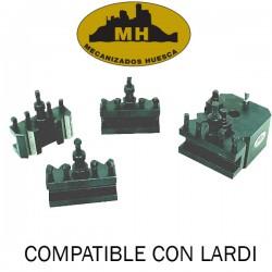 2 and 3 sided TURRET KIT + 4 TOOL HOLDERS Lardi-Mecanizados Huesca