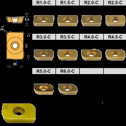Kit de placas de Fresar de radios Convexos