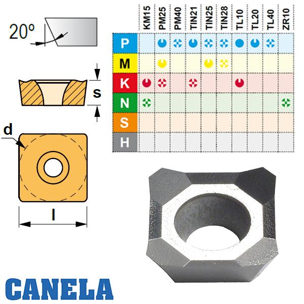 Canela SEHT1204 .. Placa de Fresar Aluminio
