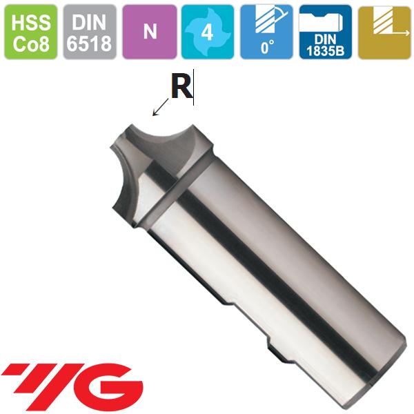 YG1-Fresas 1/4 Circulo Concavo Z4 HSSCo8