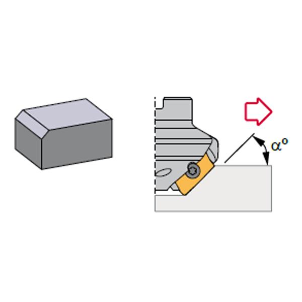 Canela-Fresa de planear y achaflanar 15- 75º para placa ADKT 2206..