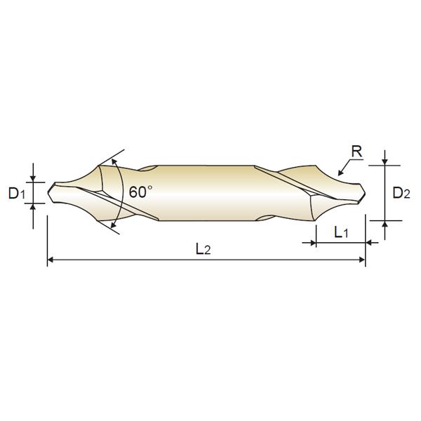 HSS 60º Center Drill Form A