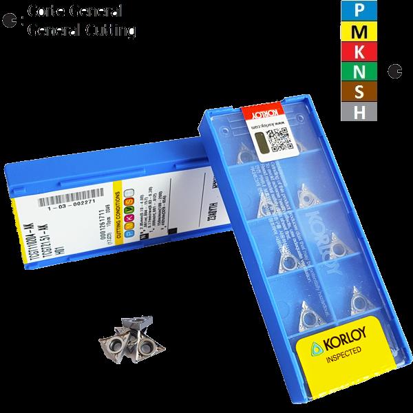 Korloy TCGT1102..-AK H01 Positive Aluminum Turning Insert