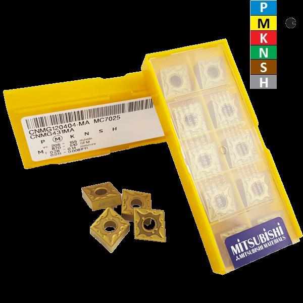 Mitsubishi CNMG120404-MA MC7025 Negative Turning Insert