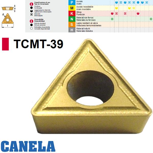 Canela TCMT.. Placa de Fresado Positiva