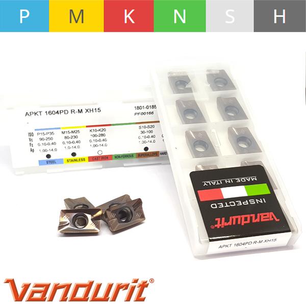 Vandurit APKT1604PDR-M XH15 Placa de Fresar