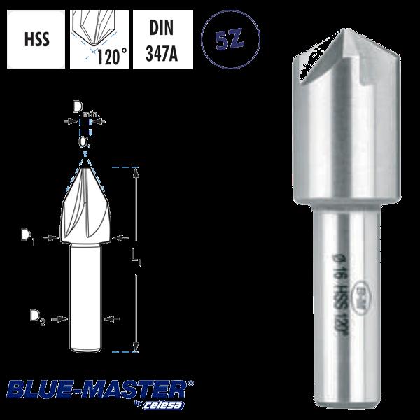 Avellanador Multicorte 5 Cortes Blue-master Mango Cilíndrico 120º