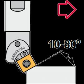 Achanflanar grados variables 10-80º
